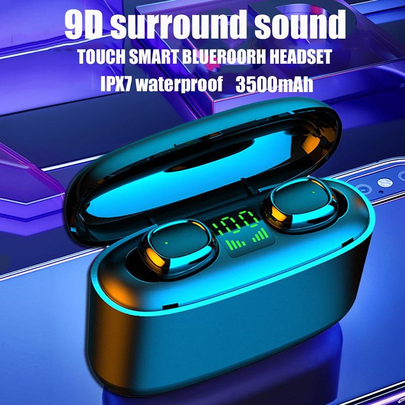 Sluchawki TWS Bluetooth Wireless Earphones Stereo Earbuds Waterproof Headset Music Headphones For Xi