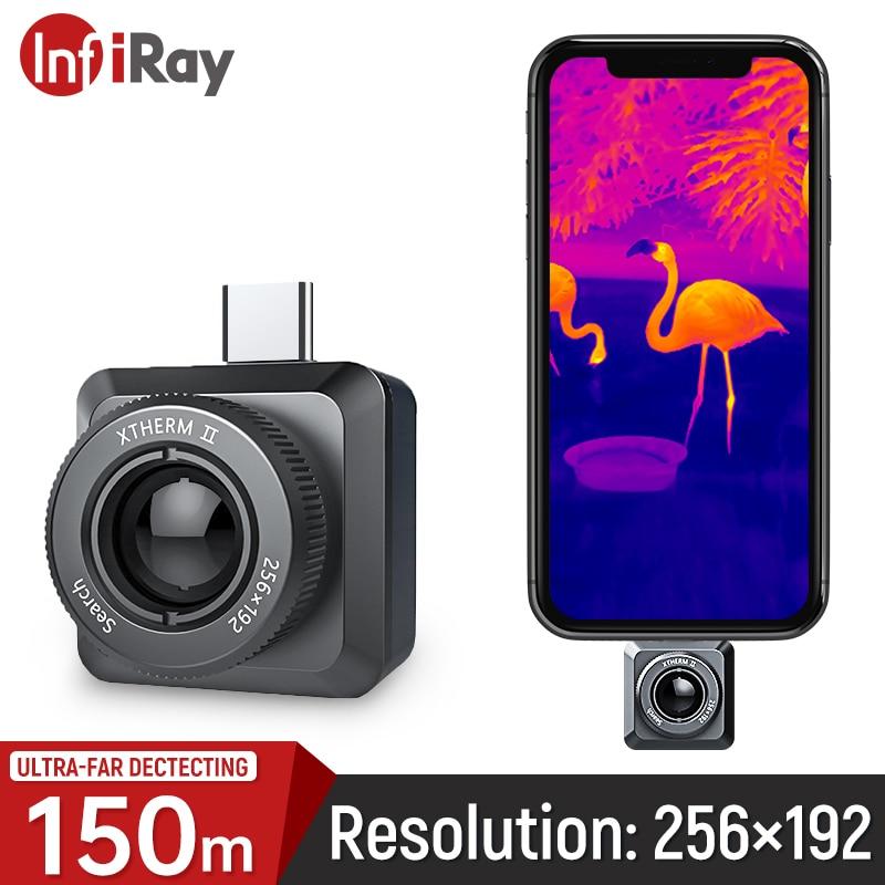 InfiRay الأشعة تحت الحمراء الحرارية تصوير في الهواء الطلق كاشف الصيد للرؤية الليلية كاميرا للهاتف نوع C كاميرا تصوير حراري T2-Search
