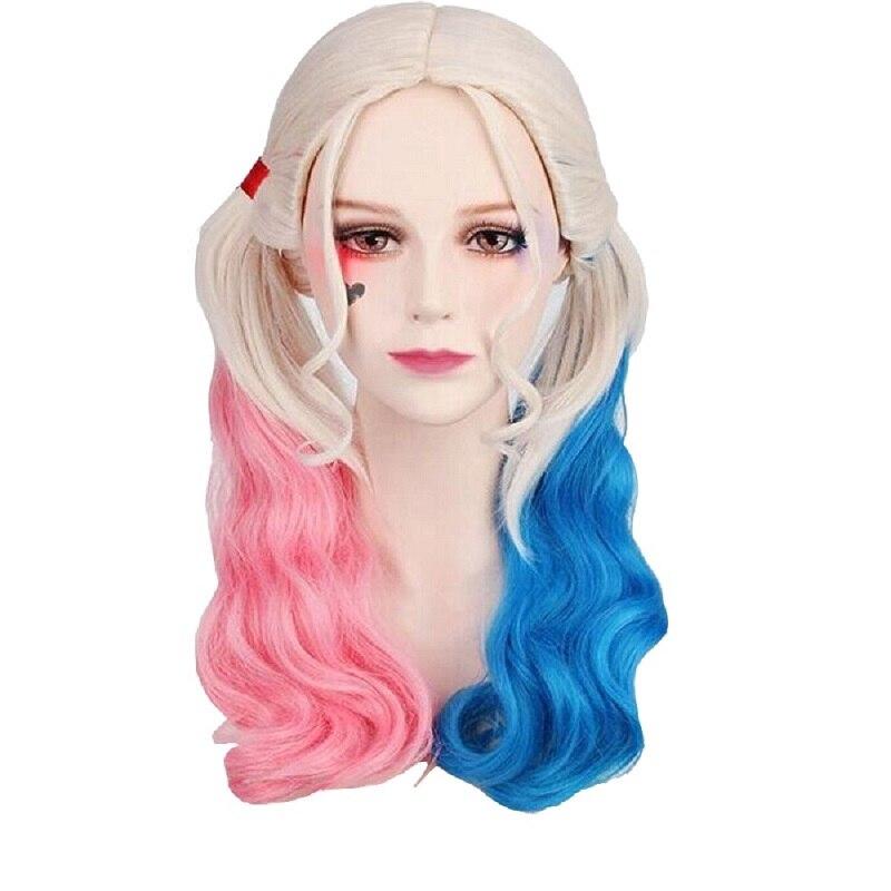 Suicide cosplay Halloween Quinn Squad Harley Monster Wig holster baseball bat Bracelet Belt necklace Gloves Accessories Full Set