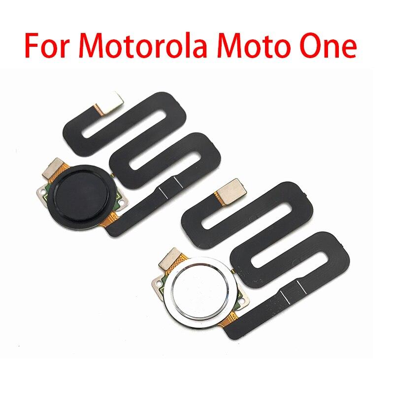 5 unids/lote Sensor de huella digital escáner Touch ID conectar placa base botón de inicio Cable flexible para Motorola Moto One