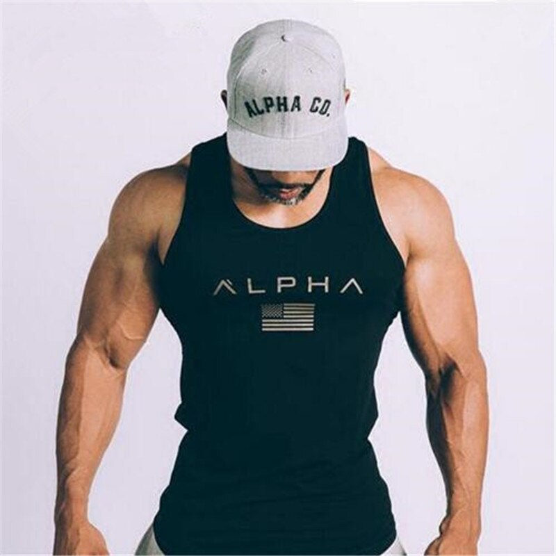 ALPHA brand 2019 nueva llegada sportscholen Fitness con capucha camiseta sin mangas de moda heren kleding Losse ademande mouwloze camisetas chaleco