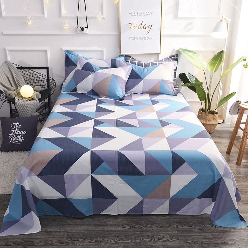 46 coloridas sábanas planas gemelas, tamaño king, bonitos cuadros geométricos, sábanas de cama tamaño queen, líneas de cama multicolor, sábanas de cuadros #/L