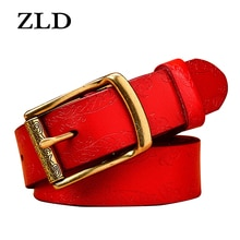 ZLD Genuine leather ladies fashion retro punk belt alloy pin buckle high quality ladies business cas