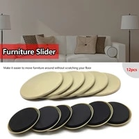 12pcs furniture sliders floor protectors reusable heavy furniture mover slider for carpet quickly easily furniture hardware tool