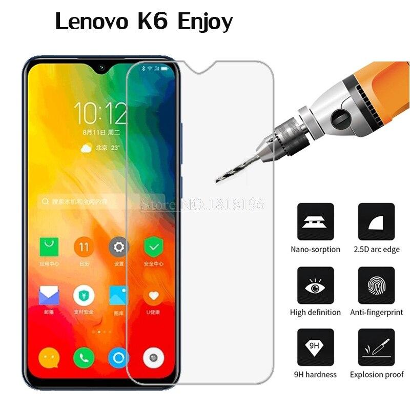 Vidrio templado para Lenovo K6 Enjoy protector de pantalla de cristal para...