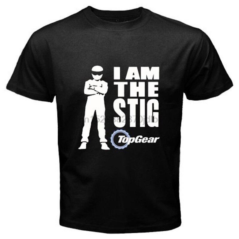 Camiseta nueva de TV Show de logotipo que soy el Stig hombres camiseta negra tamaño Casual orgullo t camisa de los hombres de moda Unisex camiseta