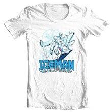 ICEMAN T Shirt Men Women retro marvel comics Spider-man and his amazing friends T-Shirt Tee Shirt gift funny Cotton
