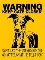 greyhound dog tin sign 8x12 aluminum vintage wall decor home decor