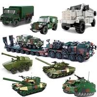 new xingbao military series elefant tractor truck t92 tank transport armored vehicle kpa3 truck building blocks bricks ww2 toys