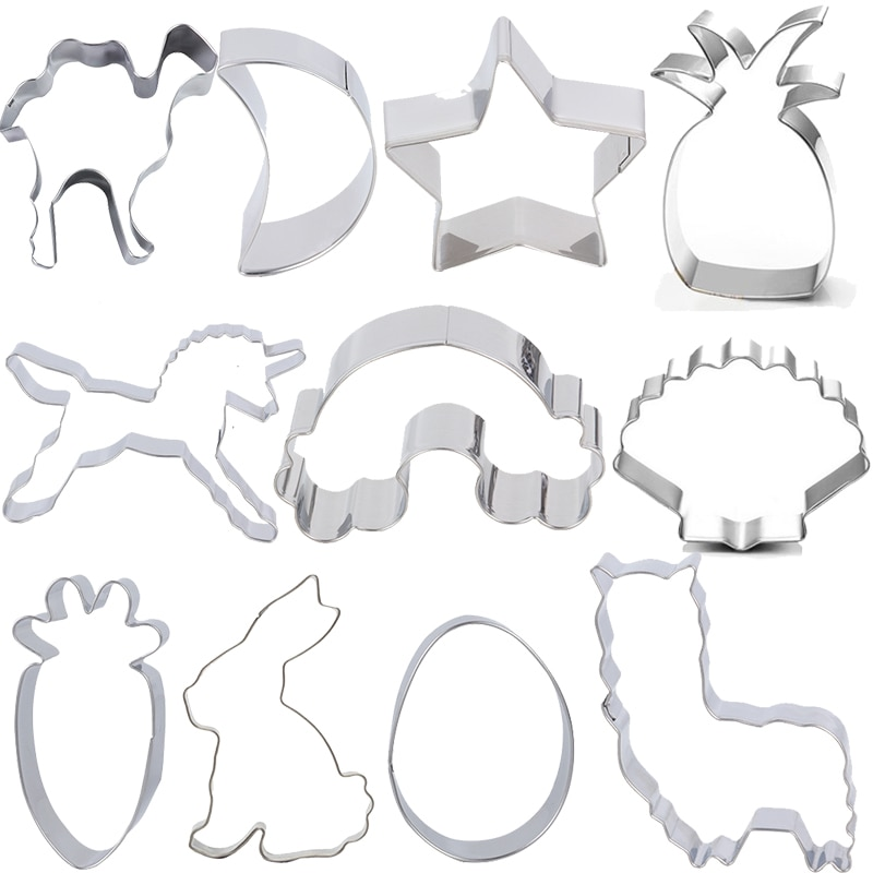 1Pc Baking Accessories Cookies Cutter Mold Unicorn Animal Cake Mould Biscuit Decorating Birthday Home Kitchen Bakeware Tool