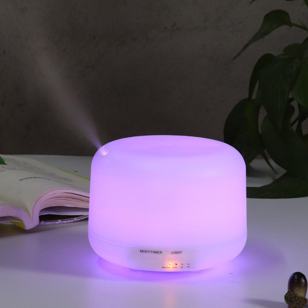 ناشر الزيوت العطرية بالموجات فوق الصوتية ، مرطب الهواء ، مصباح عطري كهربائي ، إيقاف تلقائي ، تغيير 7 ألوان لمبيد المنزل
