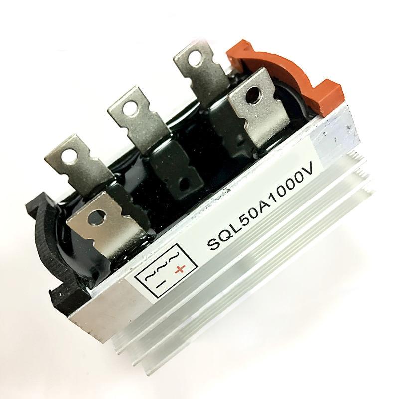 Nuevo generador sin escobillas del puente del rectificador trifásico de 1000 V/50A/W/disipador térmico