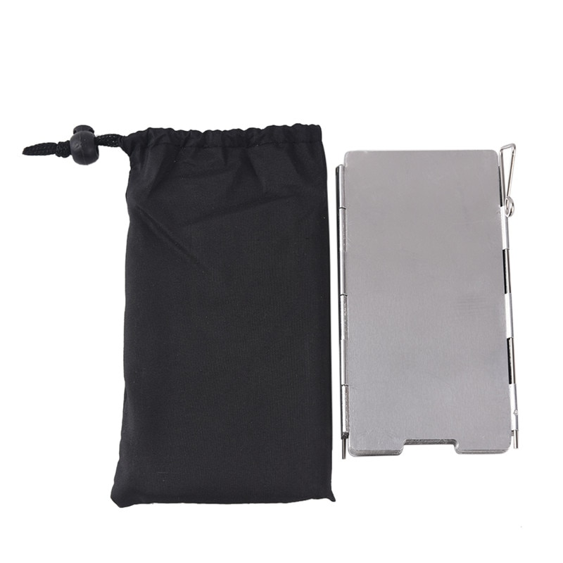 1pc gas 1Pc 9 Plates Wind Deflectors Foldable Outdoor Camping Gas Stove Wind Shield Screens 14*60cm
