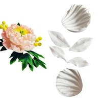 new peony flower leaf silicone mold cake decorating tools fondant gumpaste clay sugarcraft floral petal tools c394