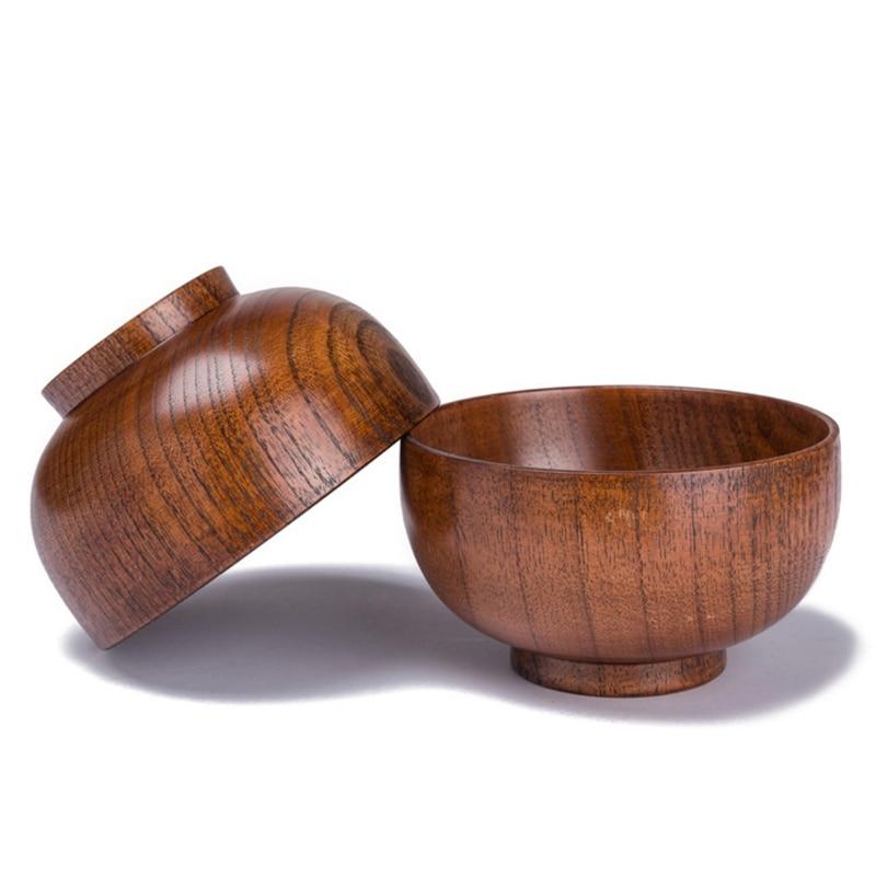 Vajilla de madera Natural estilo japonés para ensaladas y fideos de arroz