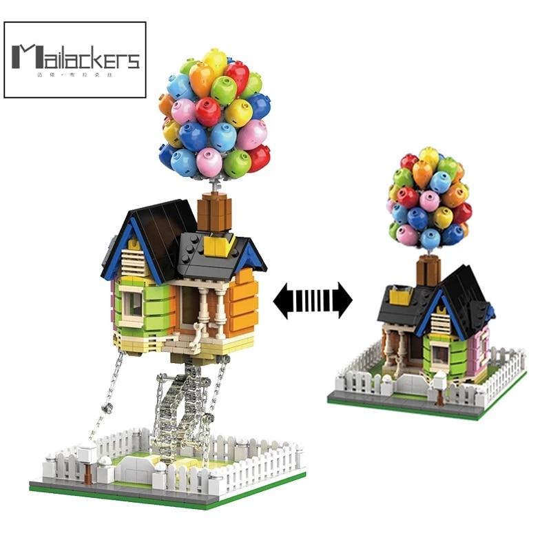 Mailackers City, эксперт в архитектуре, летающий воздушный шар, домик, скульптуры Tensegrity, модульный город, строительные блоки, дом, детские игрушки