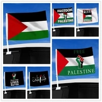 palestine car flag 4530cm polyester double stitched indoor hung banner outdoor garden building decor palestine flag accessories