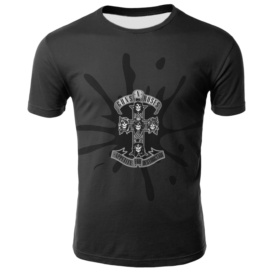 3D print skull t-shirt terrifying T-shirt dark black T-shirt Harajuku solid base t-shirt men's and women's T-shirt Gothic style