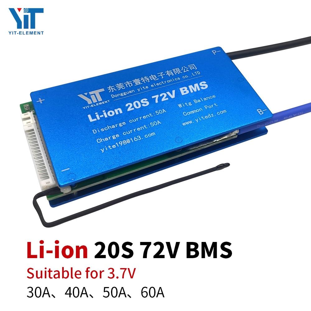 20S BMS 72V 3.7V بطارية ليثيوم لوحة حماية ، معادلة درجة الحرارة ، حماية التيار الزائد ، PCB 30A 40A 50A 60A