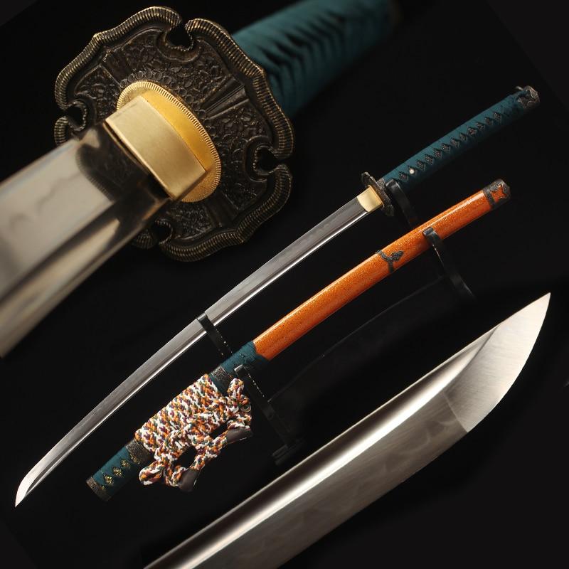 Functional Japanese Samurai Katana 1095 Steel Clay Tempered Blade Razor Sharp Real Tachi Tokugawa Swords Handmade Full Tang