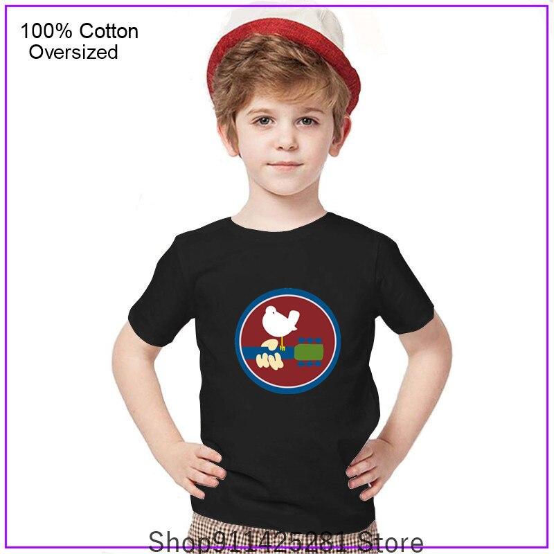 Los hombres Woodstock Logo 1969 niños niñas ropa camiseta Camisetas Camiseta Tee...