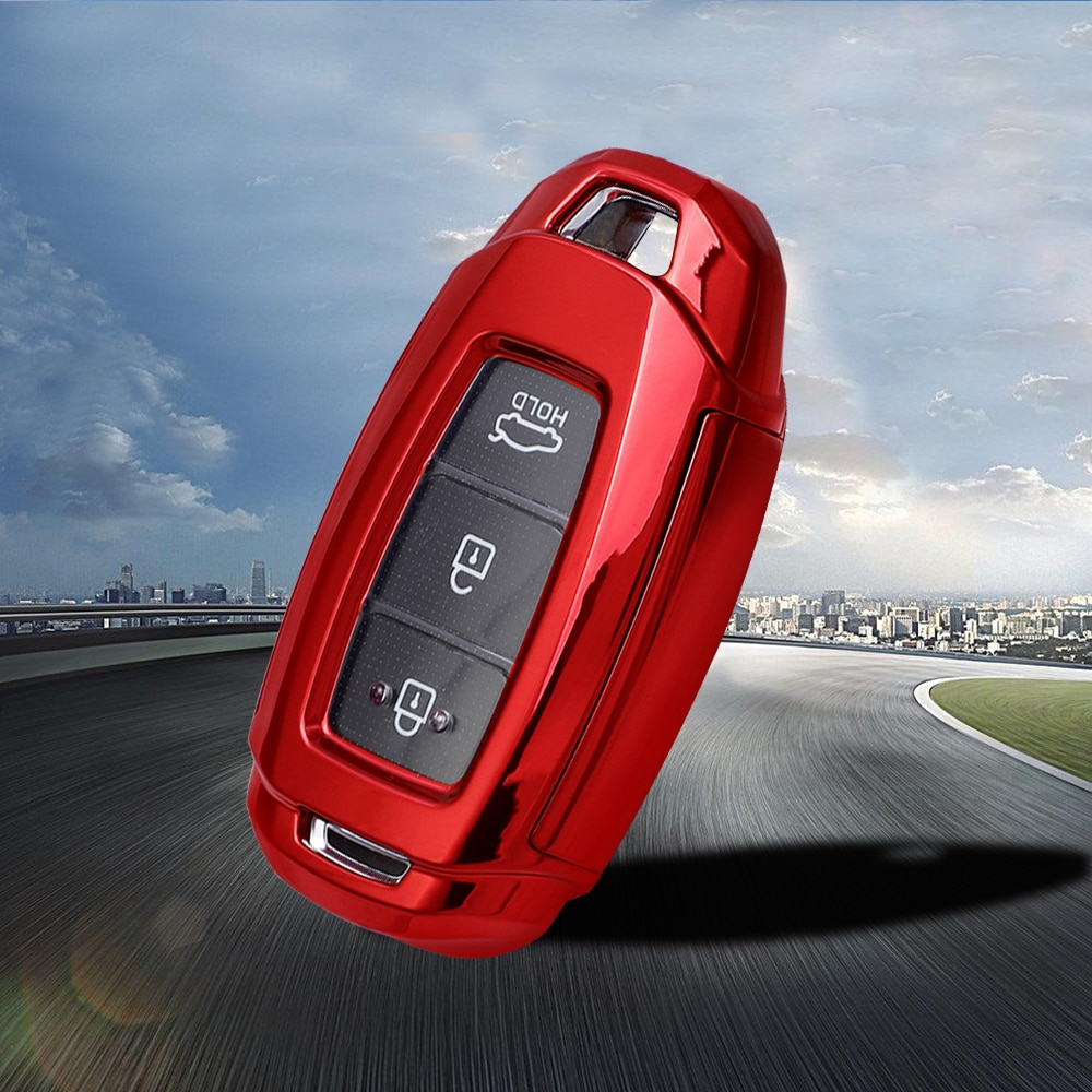 Tpu para hyundai kona chave titular para hyundai i30 ix25 elantra 2017 solaris veloster encino acento chave do carro caso capa acessórios
