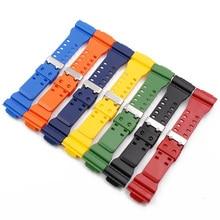 Rubber Watch Strap Mens Pin Buckle Resin Watch Band for Casio G-Shock GD120 GA100 GA110 GA400 Watchband Watch Accessories