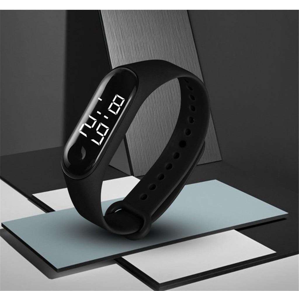 Men and women watch LED electronic sports watch light sensor type watch waterproof touch electronic