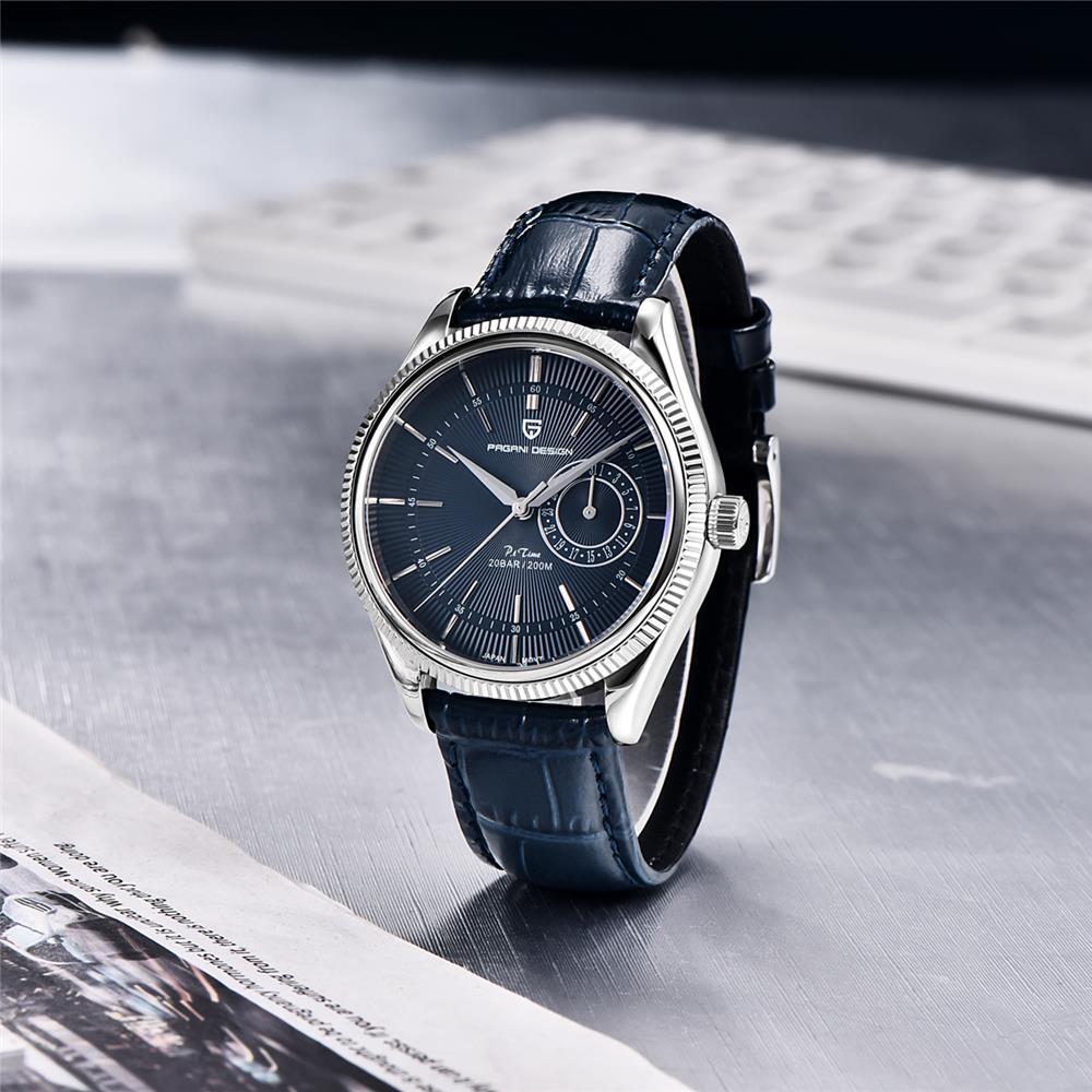 2021 Pagani Design New Men's Leather Mechanical Second Quartz Clock Sapphire 200m Waterproof Men's Quartz Watch Relogio enlarge
