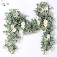 Guirlande de fleurs artificielles  2M  fausse vigne deucalyptus suspendue pour mariage  maison  bureau  fete  jardin  artisanat  decoration artistique