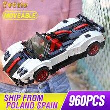 Creative MOC Technic Series The Pagani Zonda Cinque Speed Racing Cabriolet Car Set Building Blocks Brick Kids Toy 22208