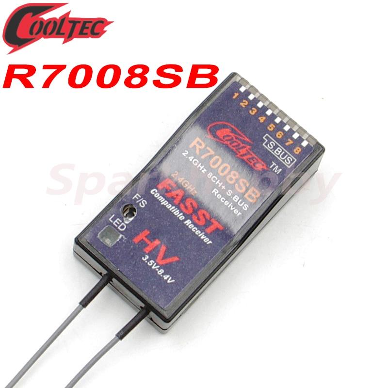 1PC Marke Neue R7008SB Cooltech Futaba Fasst S.BUS kompatibel 8ch empfänger für 14SG 16SG 16SZ 18SZ 18MZ WC R7008SB TFR8SB RC