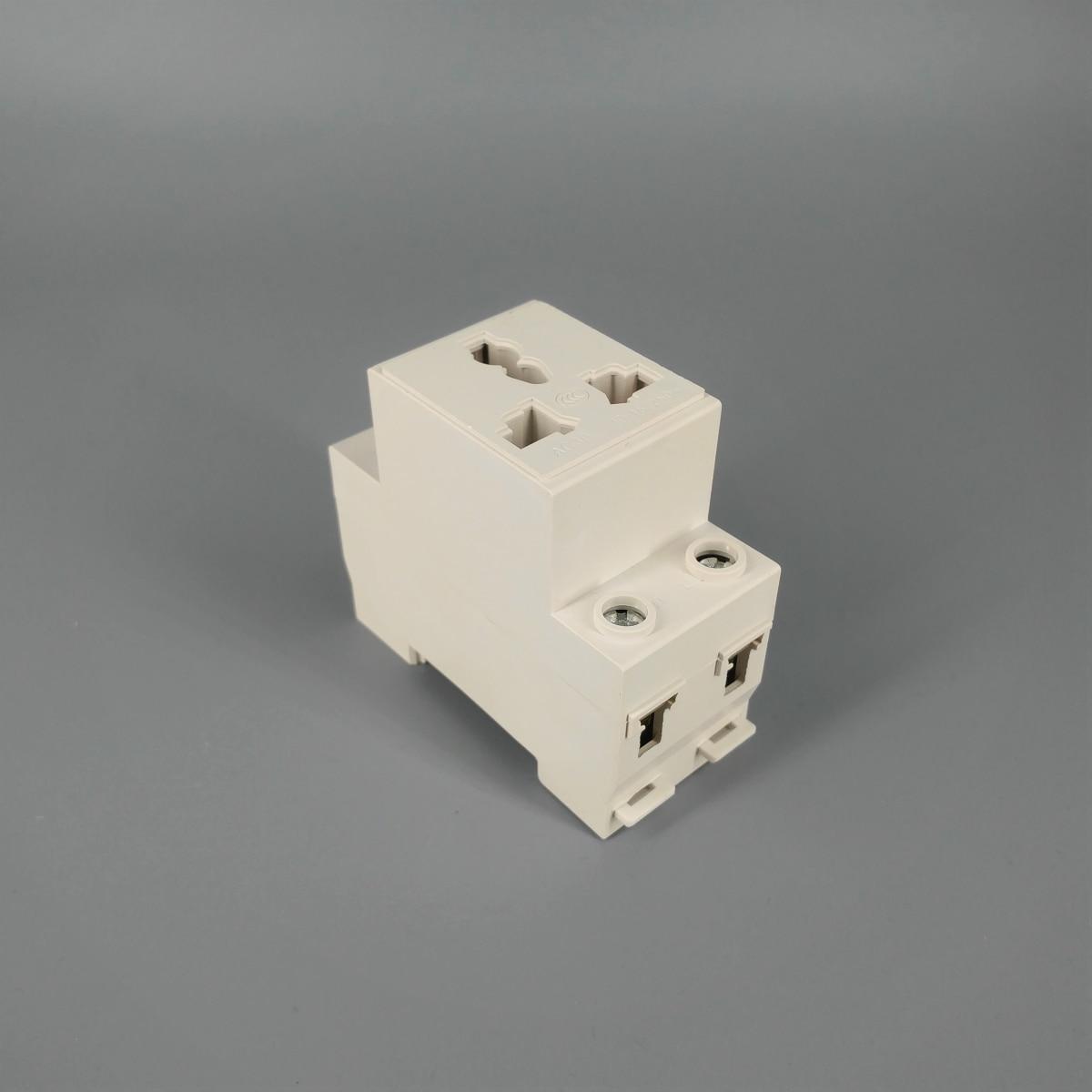 AC30  3 Pin Plug 35mm Din Rail Mount Modular socket 10-16A 250V