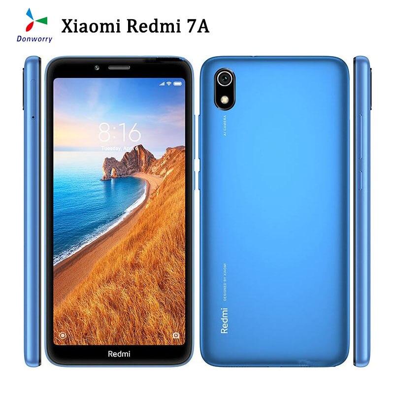 Перейти на Алиэкспресс и купить Оригинальная б/у разблокирована Xiaomi Redmi 7A 5,45 дюйма 2G RAM 16GB ROM 4000 мА/ч, глобальная версия Dual SiM Face ID 4G смартфон на Android