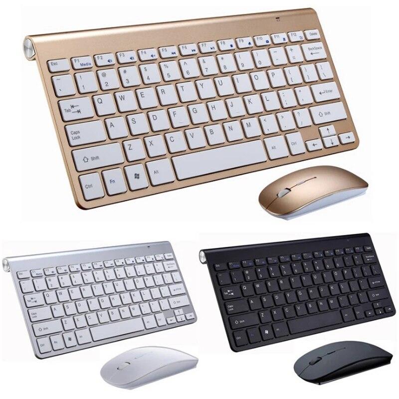 لوحة مفاتيح وماوس لاسلكية 2.4G USB لوحة مفاتيح صغيرة ماوس المجموعات بلا ضوضاء لوحة مفاتيح مريحة مع مجموعة الماوس لأجهزة الكمبيوتر المحمول التلف...