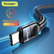 Essager USB Type C Cable For Samsung Xiaomi mi 3A Fast Charging USB-C Cable Mobile Phone Charger USB