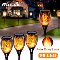 Фонарик с пламенем на солнечной батарее, водонепроницаемый садовый фонарь для газона, уличное украшение для ландшафта, дорожек для газона, ...