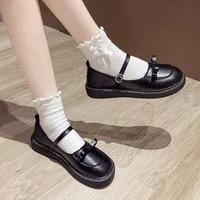 lolita shoes bow shoes platform women flats leather round toe casual shoes girls princess shoes black oxford