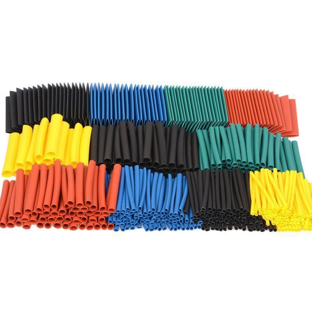 530 Pieces Polyolefin Tube Ratio Tubing Insulation Wrap Wire Cable Insulated Heat Shrink Tubing 2:1 Cables Sleeves