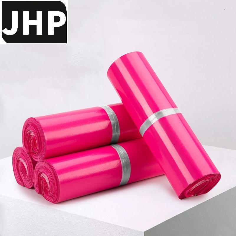 100 шт., самоклеящиеся полиэтиленовые пакеты красного цвета, среднего и маленького размера
