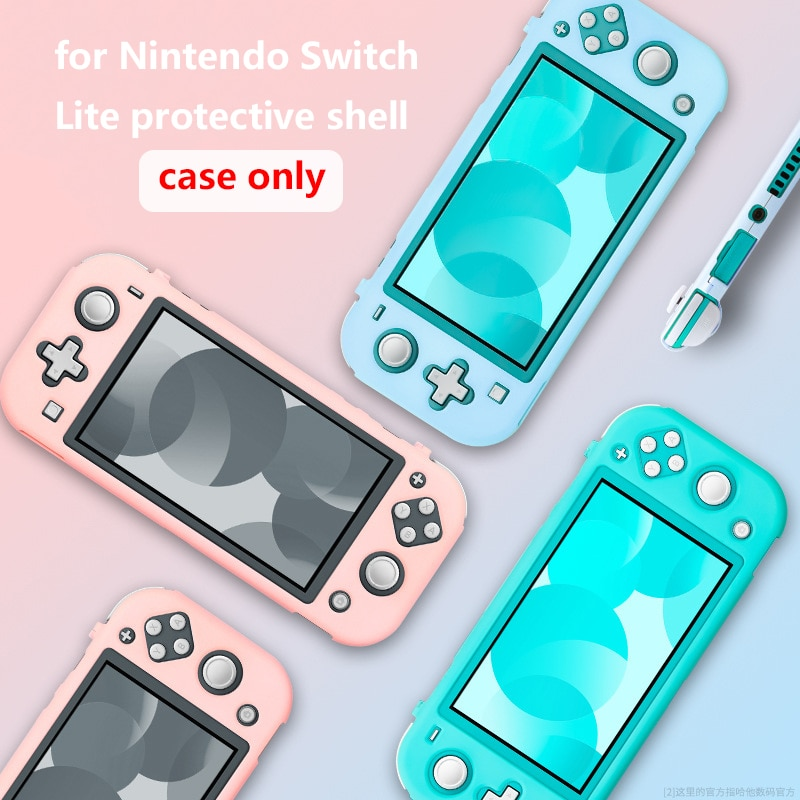 Funda de silicona rígida para Nintendo Switch Lite, funda protectora de Cristal...