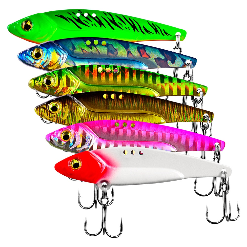 AliExpress - 1PCS Metal VIB 5/7/12/17/20g Fishing Lure Vibration Spoon Hard Baits Crankbait Wobbler Swimbait Cicada VIB Tackle 6 Colors