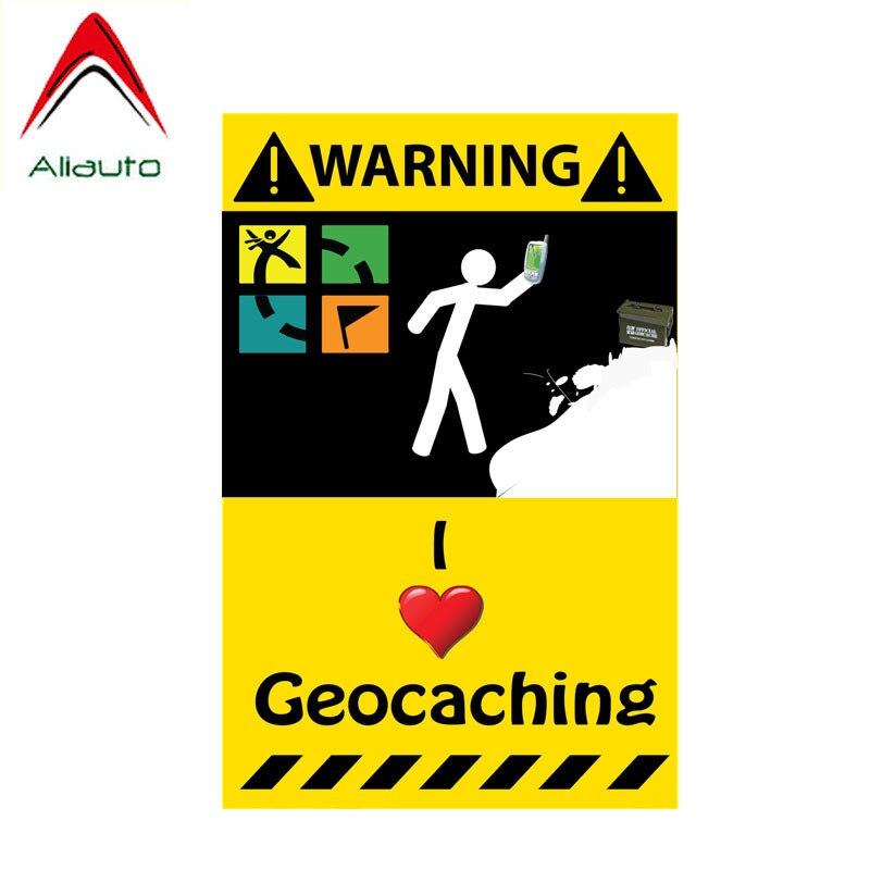 Aliauto pegatina de advertencia para coche divertido me encanta Geocaching Etiqueta de PVC para Rav4 Lada Niva Toyota Rav4 Hyundai acento 10cm * 6cm