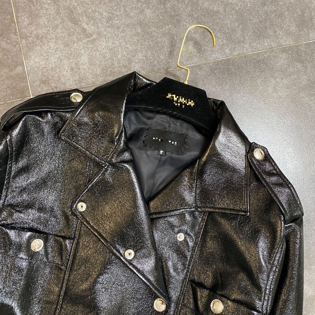 Women Faux Leather Jackets Puff Sleeve Short Motorcycle Jacket Women Vintage Casual Black Leather Coat Women 2020 Autumn  New enlarge