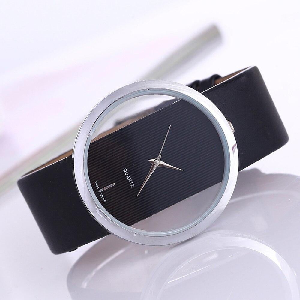 Top Leather Quartz Watch Lady Watches Women Luxury Antique Stylish Round Dress Watch Relogio Feminino Montre Femme enlarge