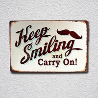 dl keep smiling and carry on tin sign metal sign metal poster metal decor metal painting wall sticker wall sign wall decor