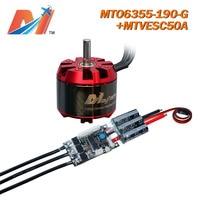Maytech 6355 190KV no hall sensor motor and wireless controller SuperESC based on VESC for electric skateboard