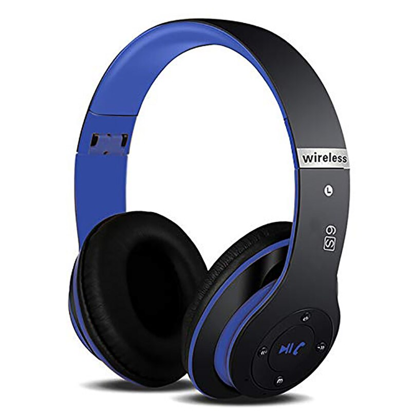 Bluetooth Wireless Music Headphones Bass HIFI Headphone Portable Foldable 3D Headset For Xiaomi Iphone 12 with mic Support SD enlarge