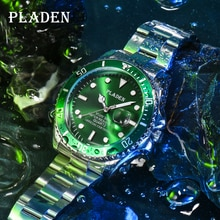 PLADEN New Luxury Top Brand Latest Mens Watches with Luminous Calendar Stainless Steel Men's Quartz