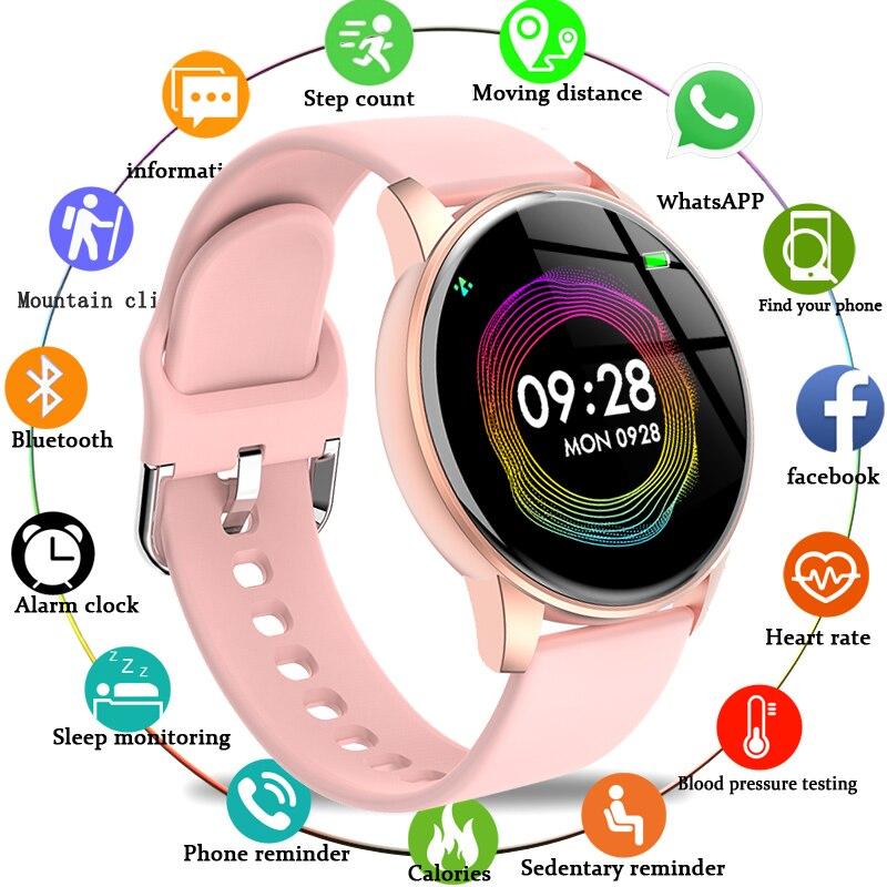 LIGE Fashion Sports Smart Watch Women Men Fitness tracker Heart rate monitor Blood pressure function smartwatch man For iPhone недорого